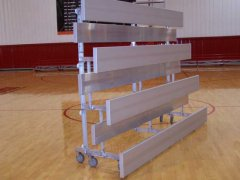 4 Row x 15' Tip-N-Roll Bleacher