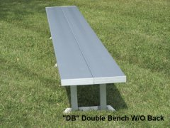Portable Double Wide Bench-No Back