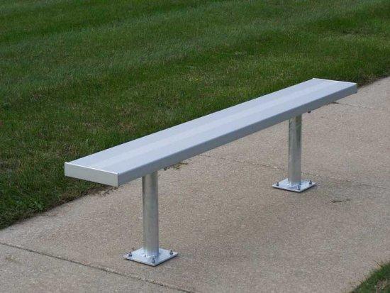 Surface Mount Aluminum Bench